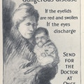 Poster with drawing of woman holding a baby.