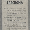 Poster showing ways to prevent trachoma.