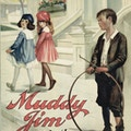 Two girls walk away from Muddy Jim.