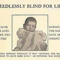 Pamphlet showing blind baby.