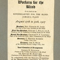 Program for 1907 American Association Of Workers For The Blind Boston Convention.