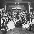 Large group photograph of the Seventh Convention National Association of the Deaf at St. Louis, held during the Louisiana Purchase exposition.