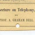 Card announcing Lecture on Telephony.