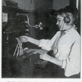 Blind switchboard operator working.