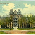 School for the Blind, Lansing, Michigan. A large ornate building with trees in front.