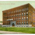 Industrial Home for the Blind, Chicago, Illinois.  A large factory-like building.